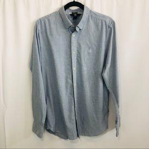 Men's Volcom modern fit button up dress shirt M